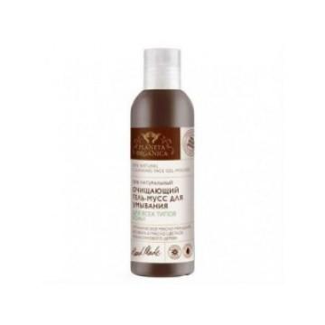 Гель-мусс очищающий для умывания для всех типов кожи, 200 мл.
