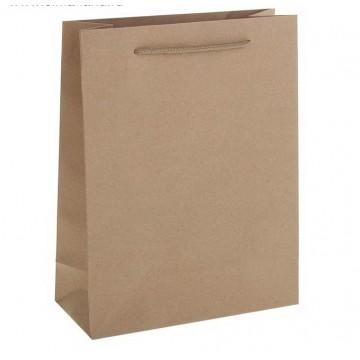 Пакет крафт без печати, 19 х 24 х 8 см
