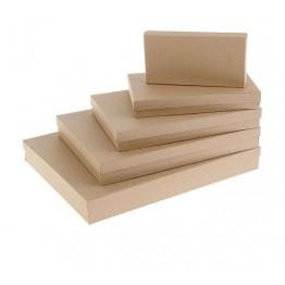 "Набор коробок 5в1 ""Крафт однотонный"", 40 х 30 х 5 - 20 х 10 х 3 см."