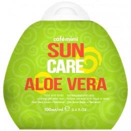 Гель после загара для лица и тела охлаждающий Aloe Vera, 100 мл.| Cafe mimi