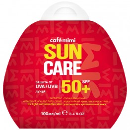 Солнцезащитный крем для лица и тела SPF50+, 100 мл.| Cafe mimi