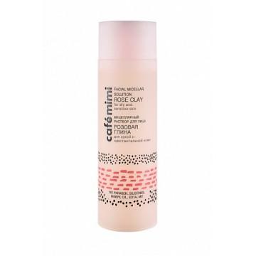 Мицеллярная вода Розовая глина для сухой и чувствительной кожи, 200 мл., Cafe mimi