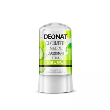 Минеральный дезодорант-кристалл Деонат с экстрактом Огурца, стик 60 г.