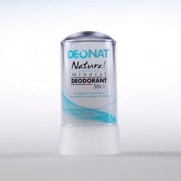 Минеральный дезодорант-кристалл ДеоНат (Цельный) чистый, стик 60 г.