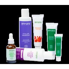 Рекомендованный производителем сет для ухода за жирной кожей лица  Levrana