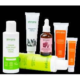 Рекомендованный производителем сет для ухода за нормальной кожей лица| Levrana