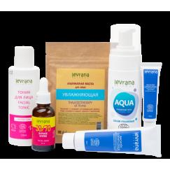 Рекомендованный производителем сет для ухода за сухой кожей лица| Levrana