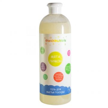 """Гель для мытья посуды """"Мята и лимон"""" 1 л., Freshbubble"""