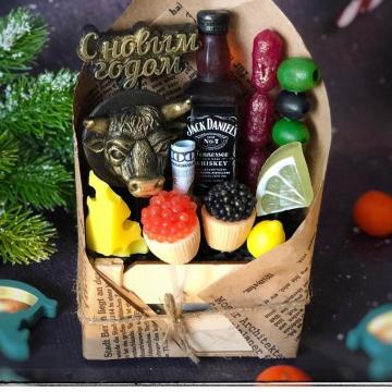 Набор мужского новогоднего мыла