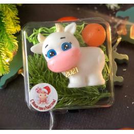 """Мыло """"Белая коровка и мандарин"""""""