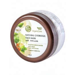 Гидрогелевая маска для лица с АНА-кислотами с лифтинг-эффектом 50 мл., Organic Zone