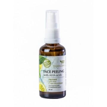 Пилинг для лица с АНА-кислотами для нормальной и смешанной кожи 50 мл., Organic Zone