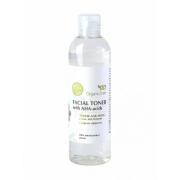 Тоник для лица с АНА-кислотами лифтинг-эффектом 250 мл., Organic Zone