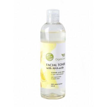Тоник для лица с АНА-кислотами для нормальной и сухой кожи 250 мл., Organic Zone