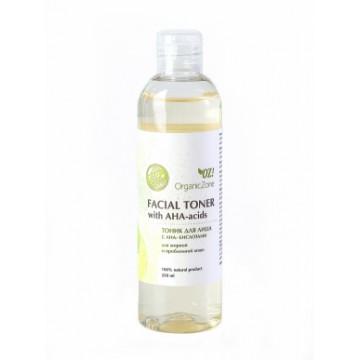 Тоник для лица с АНА-кислотами для жирной и проблемной кожи 250 мл., Organic Zone