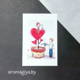 Открытка для любимого и любимой Арт.169| Aromagiya.by