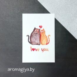 Открытка для любимого и любимой Арт.166  Aromagiya.by