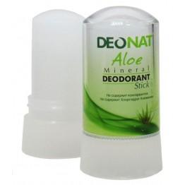Дезодорант-кристалл с натуральными вытяжками трав и соком алое, 60 г .