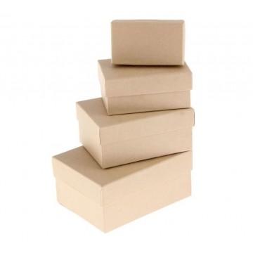 "Набор коробок 4 в 1 ""Крафт однотонный"", 15 х 11 х 7 - 9 х 5 х 4 см"