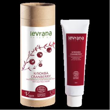 Клюква, антивозрастной крем для лица, Levrana